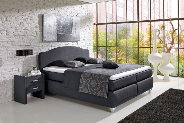 hapo boxspringbett toskana anthrazit kopfteil 3 boxspringbetten schlafen. Black Bedroom Furniture Sets. Home Design Ideas